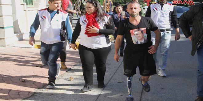 Soldado herido inicia una caminata de 260 km