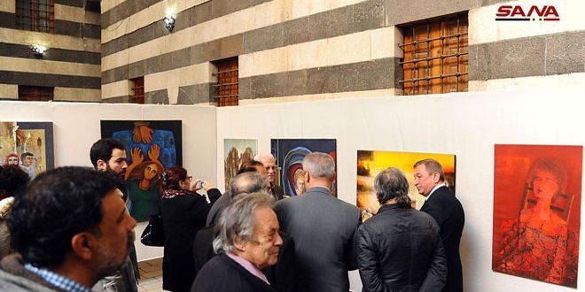 175 obras de arte en la exposición anual de Otoño en Khan Assad Pasha