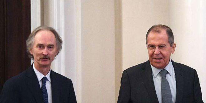 Lavrov y Pedersen abogan por una acción conjunta para resolver la crisis en Siria