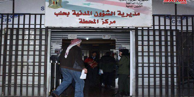 Cámara de SANA visita la Dirección de Asuntos Civiles de Alepo