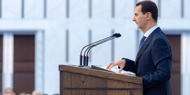 Al-Assad: la política de algunos países hacia Siria se basó en apoyar el terrorismo y la descentralización para debilitar la autoridad del estado