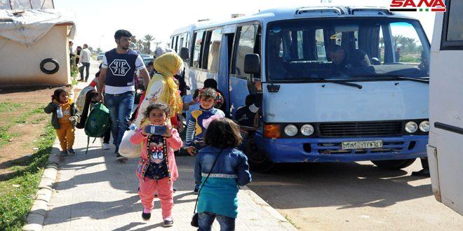 Nuevo grupo de desplazados sirios cruza de Jordania a la Patria