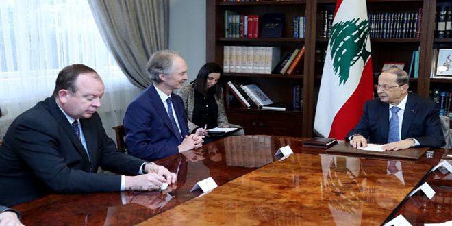 Presidente libanés destaca necesidad de trabajar para garantizar el regreso de los desplazados sirios a su patria