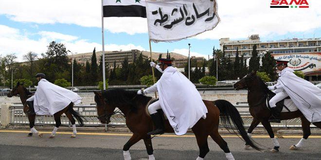 La gran marcha del caballo árabe en el Festival Internacional de al-Sham para los Caballos Árabes