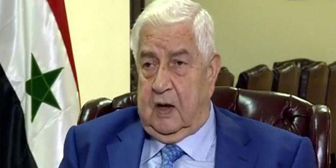 Al-Moallem: Siria coordina constantemente con Irán