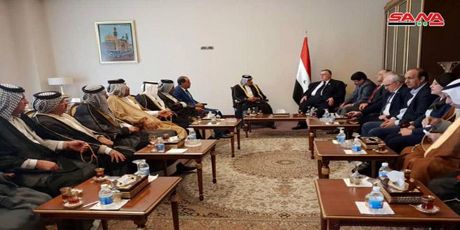 Sabbagh destaca las posturas de Irak en apoyo de la lucha del pueblo sirio contra el terrorismo