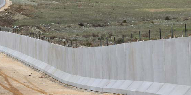 Régimen turco construye un muro para aislar a la ciudad siria de Efrin
