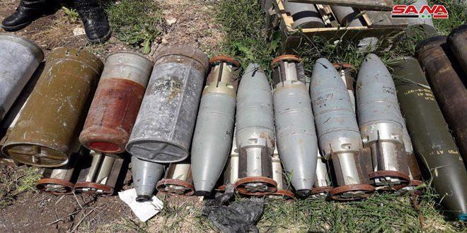Ejército halla armas abandonadas por terroristas en el campo de Hama