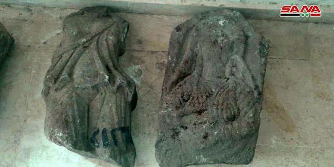 Ejército recupera dos piezas arqueológicas robadas por terroristas en Deraa