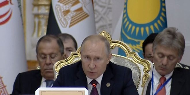 Putin reafirma la necesidad de encontrar una solución a la crisis en Siria y el regreso de los desplazados a su patria