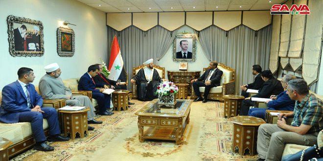 El Gran Muftí resalta el apoyo de Cuba a Siria y a las justas causas árabes