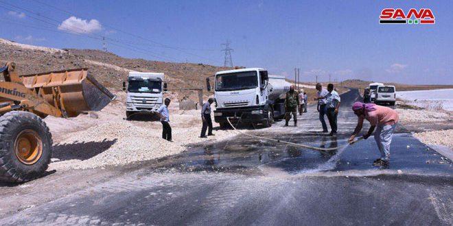 Ministros de recursos hídricos y administración local inspeccionan proyectos vitales en Alepo