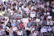 Dos protestas en Alepo en rechazo a la agresión turco-norteamericana contra el territorio sirio