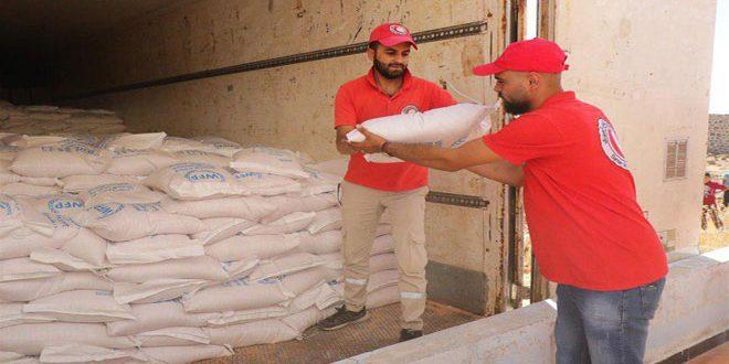MLRS entrega ayudas humanitarias a habitantes de Deraa