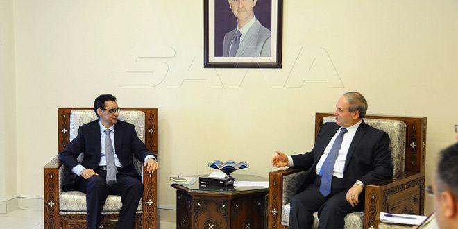 Mekdad llama a la FAO a enfocar sus actividades en las tareas del desarrollo en Siria
