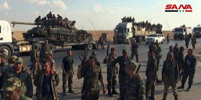 Fotos y video: más refuerzos del ejército sirio para enfrentar la agresión turca en el norte