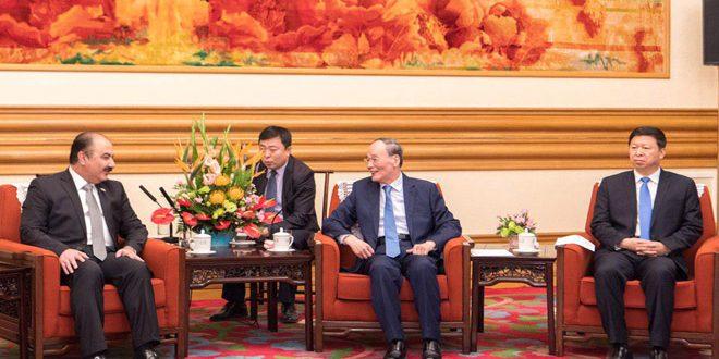 Vicepresidente de China ratifica apoyo de su país a Siria en la lucha contra el terrorismo