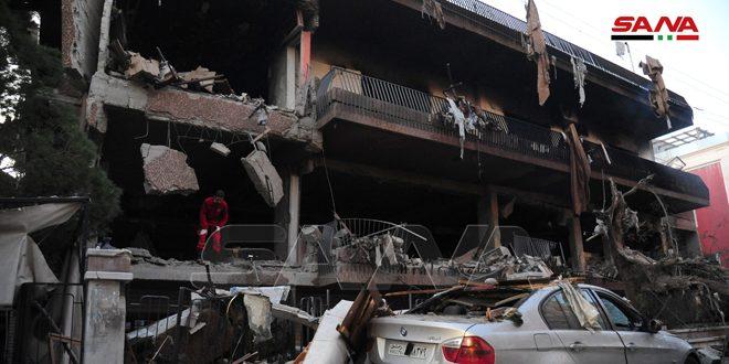Dos muertos en agresión israelí con misiles contra un edificio residencial en Mezzeh/Damasco