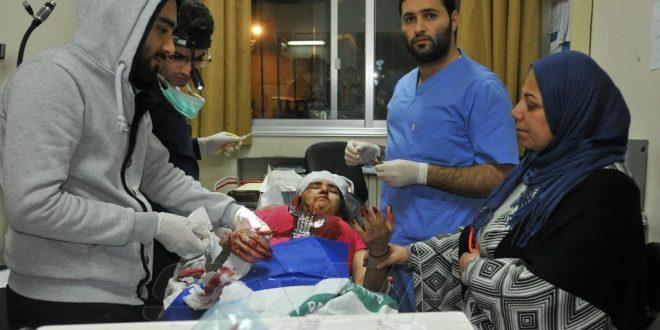 Cuatro civiles heridos y daños materiales en la agresión israelí de esta madrugada. (fotos)