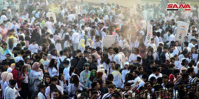 """Los participantes en el maratón """"Amo a Siria"""" emiten un mensaje de amor, alegría y paz"""