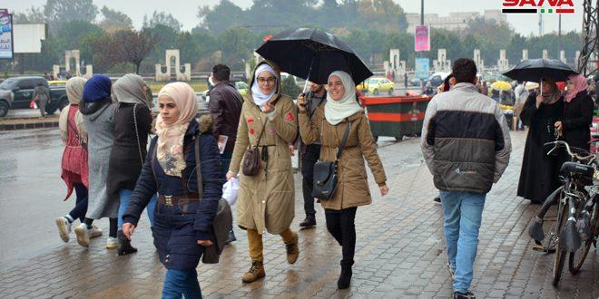 Fotos: Lluvias y bajas temperaturas en todas las provincias sirias