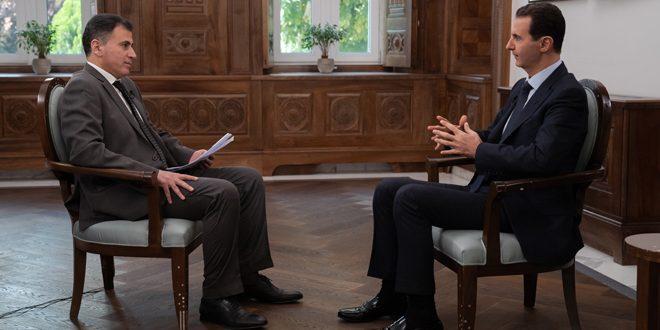 Presidente al-Assad a Phoenix TV : La iniciativa del Cinturón y la Ruta es estratégica, y EE.UU saldrá al final de Siria