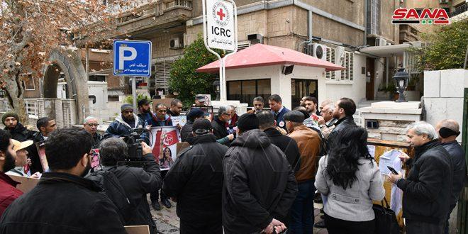 Acto de solidaridad en Damasco con los prisioneros palestinos en las cárceles del ocupante israelí
