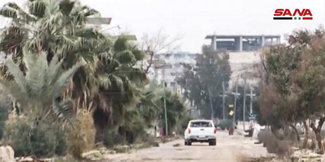 Recorrido en la liberada ciudad de Maarat al-Numan