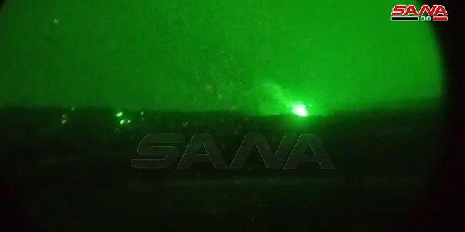 Ejército destruye un gran depósito de municiones de los terroristas al oeste de Alepo