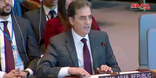 Siria afirma ante la ONU que está decidida a seguir luchando hasta liberar todo su territorio del terrorismo