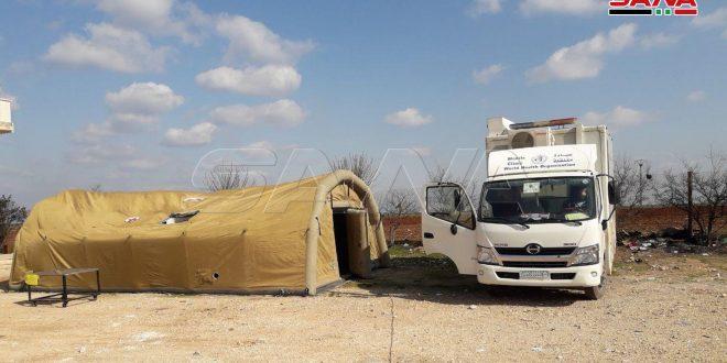 Ejército sirio abre un corredor humanitario al oeste de la ciudad de Sarqueb en Idleb