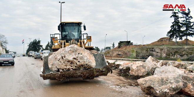 Comienzan obras de reapertura de autopista Alepo Damasco