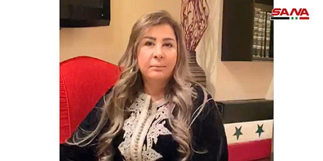 Actriz siria exige fin de bloqueo y sanciones injustas contra Siria