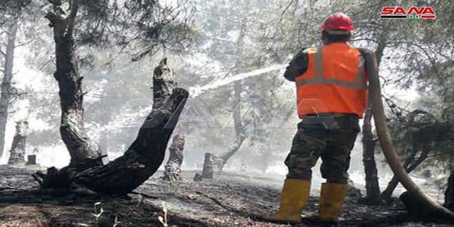Fotos: bomberos de Siria en constante acción para apagar incendios intencionados
