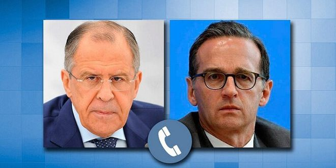 Lavrov y Mass abordan medidas económicas coercitivas ilegales impuestas a Siria