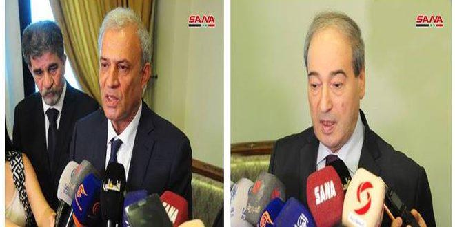 Siria y Palestina expresan mutua solidaridad ante los planes israelíes y el terrorismo