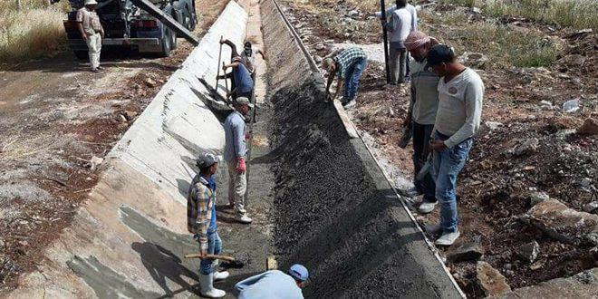 Comienzan rehabilitación del principal canal de riego entre provincias de Hama y Homs