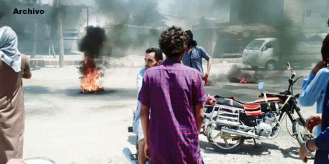 Heridos en pugnas entre terroristas proturcos en ciudad de Ras Al-Ain, Hasakeh