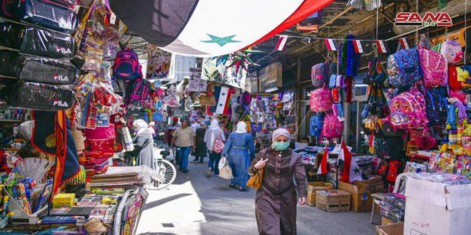 Cámara de SANA recorre calles, avenidas y mercados de Damasco. (11 de agosto del 2020)