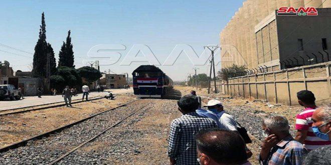 Tras interrupción de nueve años, llegó a Damasco el primer tren procedente del puerto de Tartous