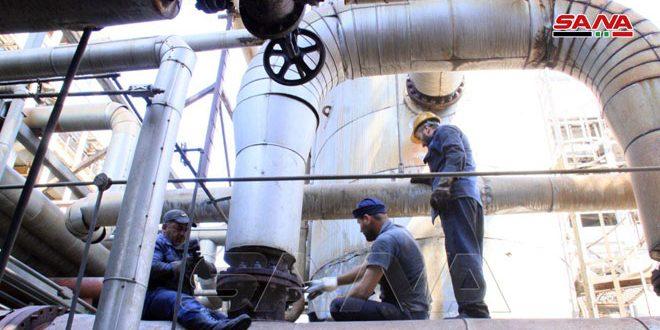 Arduo trabajo para completar el mantenimiento de la refinería de Banias