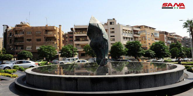 Nueva escultura con espíritu sirio se erige en una de las plazas de Damasco. (fotos)