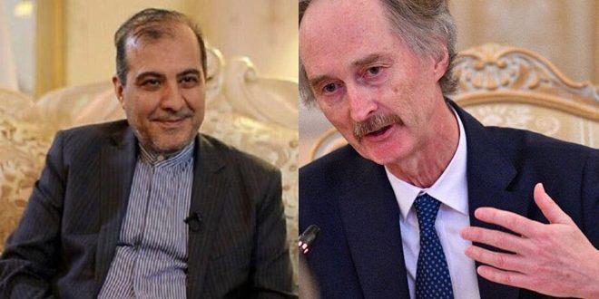 Teherán y el enviado de la ONU repasan esfuerzos iraníes para resolver crisis de Siria