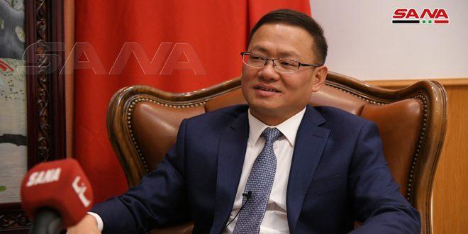 China ratifica su interés por fortalecer la amistad y cooperación con Siria