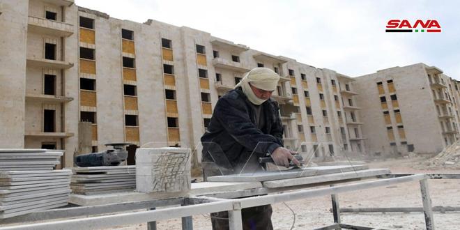 Una comisión ministerial hace un recorrido por varios proyectos de servicio en Alepo