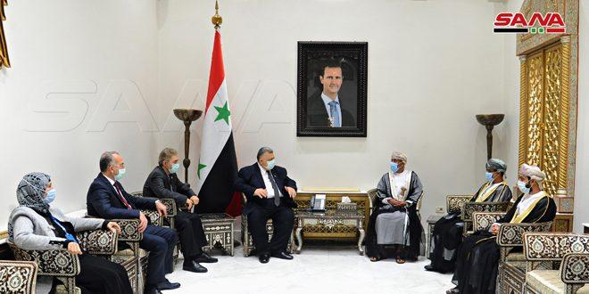 Siria y Omán abogan por desarrollar las relaciones fraternales