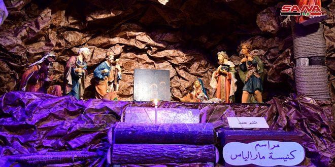 Inaugurado el Belén monumental de la Iglesia de Mar Elias Church jealous en Damasco (fotos)