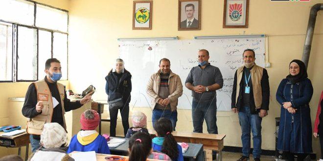 Escuelas de Alepo celebran el Día Internacional de los Voluntarios