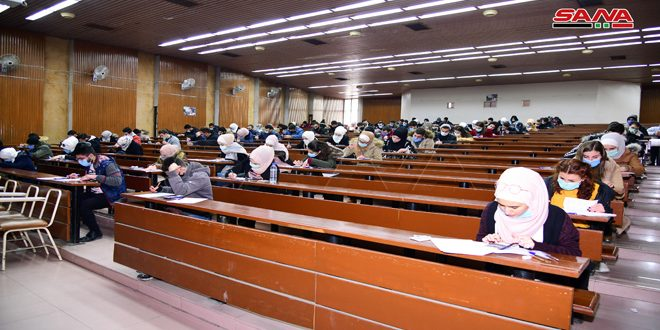 Comienzan exámenes del primer semestre en universidades públicas de Siria (+foto)