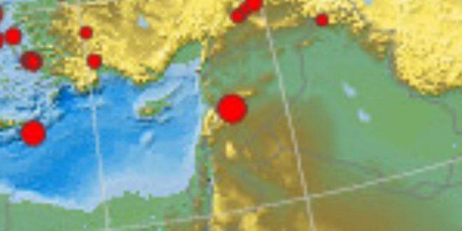 Reportan sismo de 3.6 grados en el sudeste de Homs/Siria